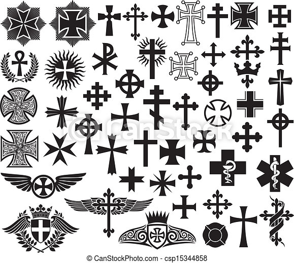 big collection of crosses big collection of vector isolated crosses rh canstockphoto com aridi vector clipart collection full 37 cds aridi vector clipart collection password
