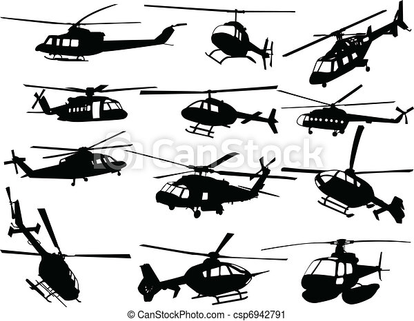 big collection of helicopters - csp6942791