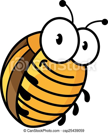big colorado potato beetle in cartoon style with funny face and big rh canstockphoto ca beetle clipart black and white beetle car clipart