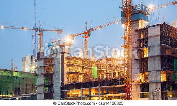 Big Construction Site Working - csp14128325
