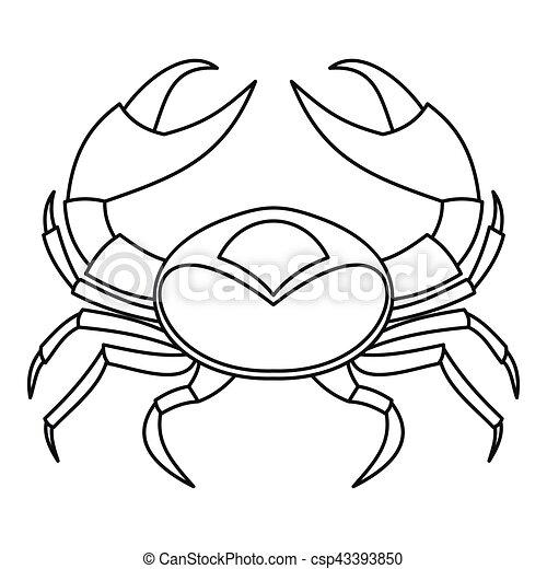 Big crab icon, outline style - csp43393850