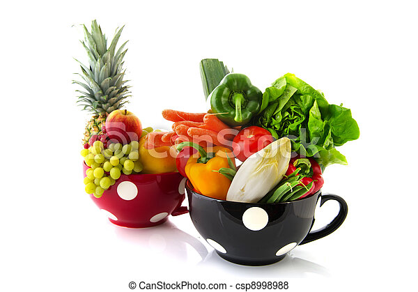 Big cups fruit and vegetables - csp8998988