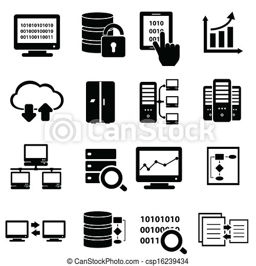 Big data icon set - csp16239434