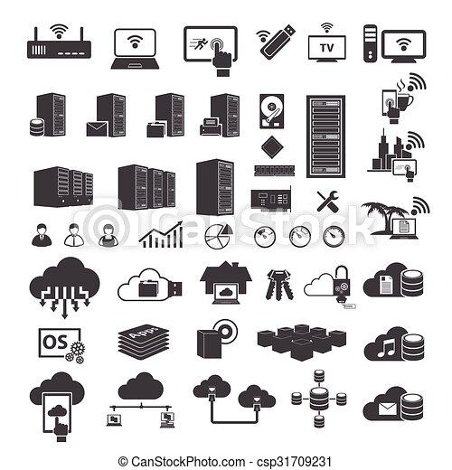 Big data icons set - csp31709231