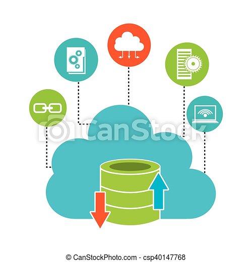 big data management icons vector illustration design clip art vector rh canstockphoto com data center clipart free
