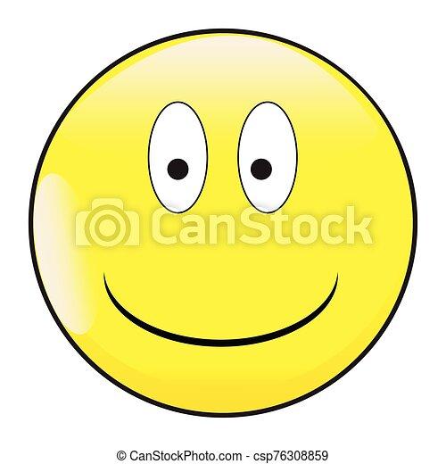 Big Eyes Smile Face Button Emoticon - csp76308859