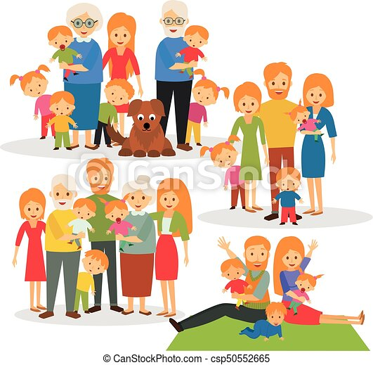 big family a happy family large family clip art vector search rh canstockphoto com big family clipart black and white big and small family clipart