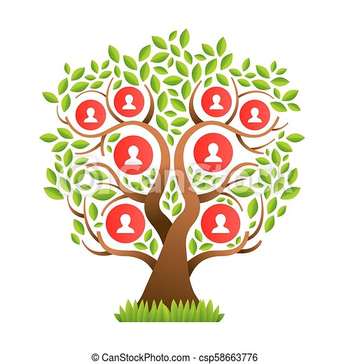 Big Family Tree Template With People Icons Family Tree Template