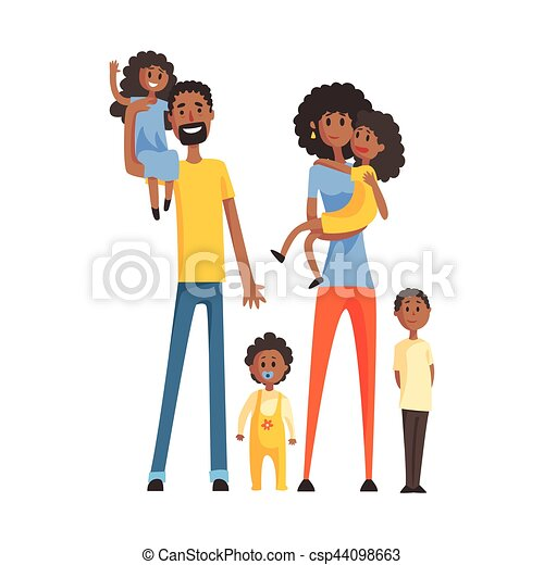 big family with parents and four kids part of family members clip rh canstockphoto co uk big family tree clipart big family picture clipart