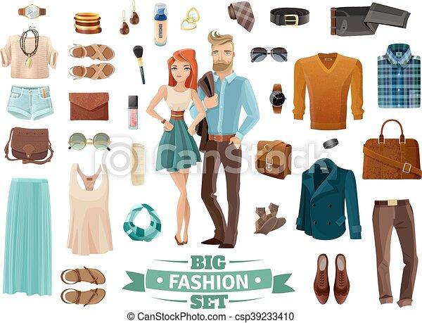 Big Fashion Set - csp39233410