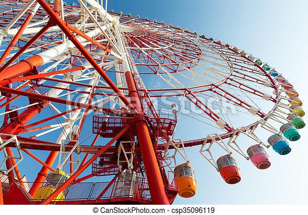 Big Ferris wheel - csp35096119