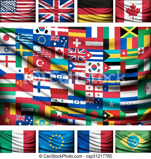 World map made of flags drawing search clip art illustrations big flag background made of world country flags gumiabroncs Images