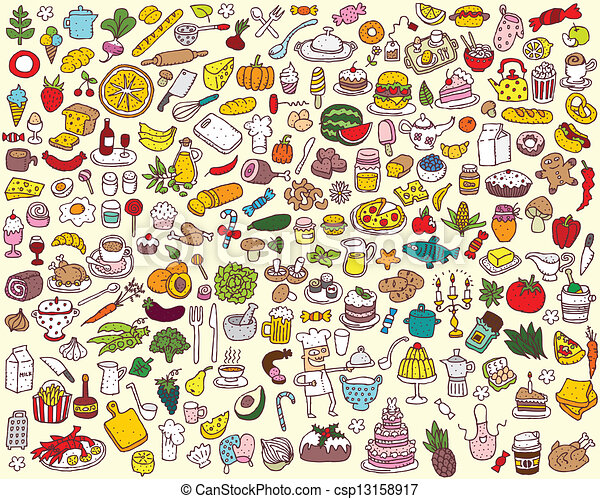 Big Food and Kitchen Collection  - csp13158917