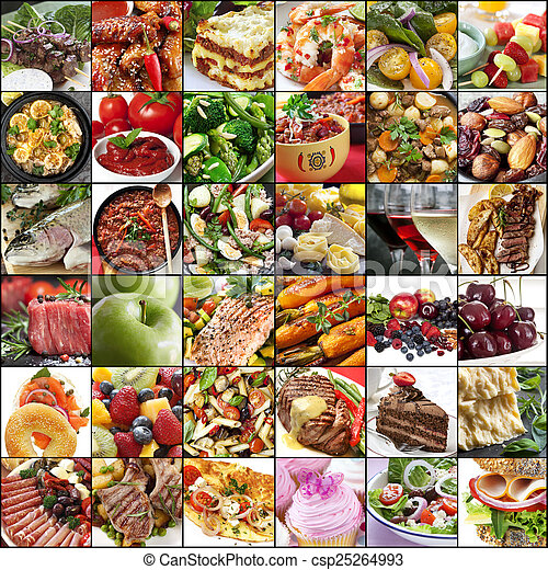 Big Food Collage - csp25264993