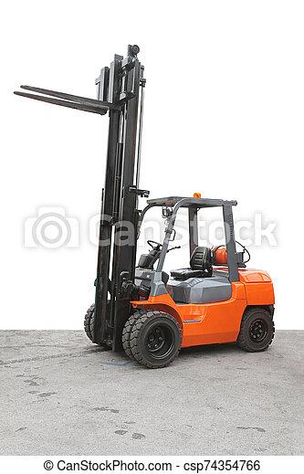 Big Forklift - csp74354766