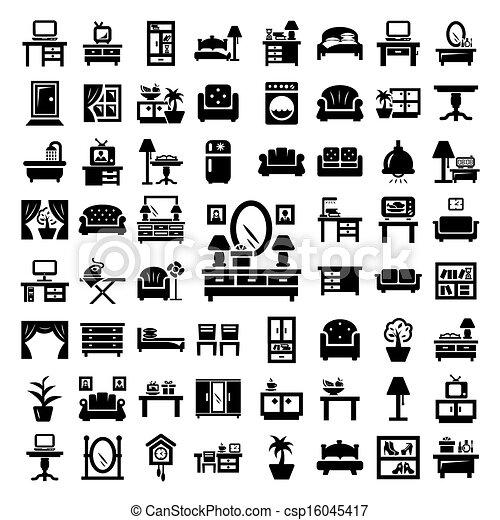 big furniture icons set - csp16045417