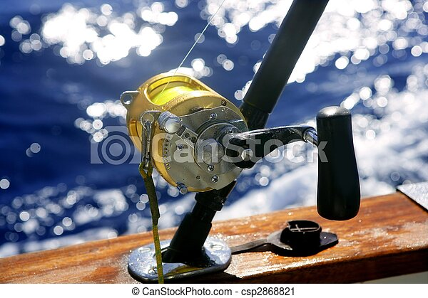 Big game boat fishing in deep sea - csp2868821