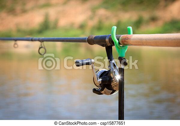 big game fishing reel and rod - csp15877651