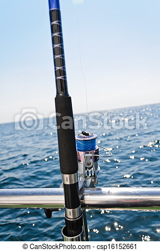 big game fishing reel in natural setting  - csp16152661