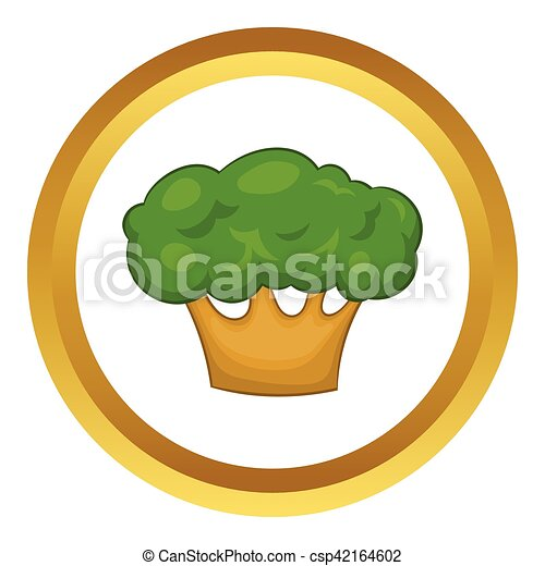 Big green tree vector icon - csp42164602
