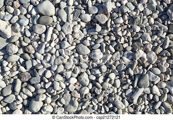 Big grey pebbles texture background - csp21272121