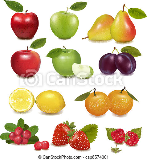 Big group of different fruit.  - csp8574001
