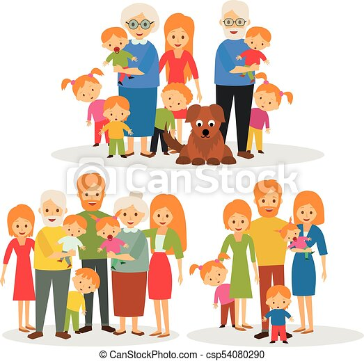 big happy family big family happy big family eps vectors search rh canstockphoto com  happy family picture clipart