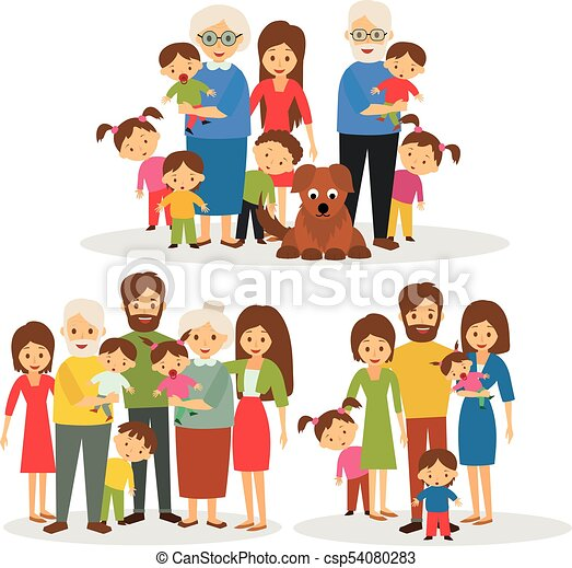 big happy family big family happy big family vector search clip rh canstockphoto com big family clipart black and white big and small family clipart