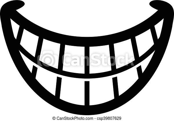 Big Happy Toothy Cartoon Smile - csp39807629