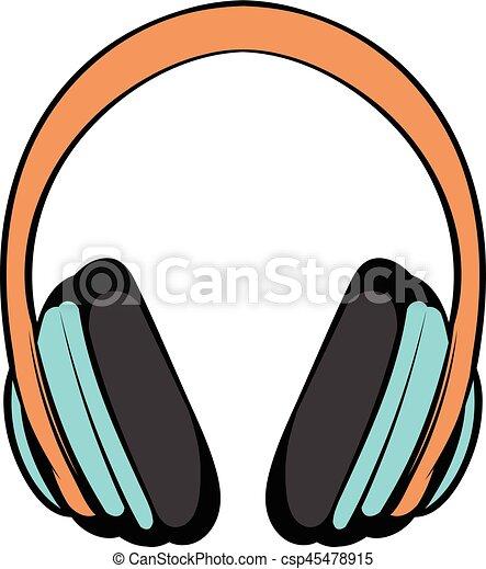 fff739f2cf75c0 Big headphones icon cartoon. Big headphones icon in cartoon style ...