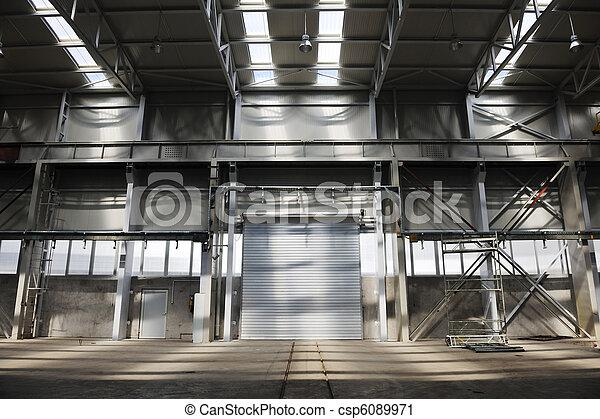 big industry garage door - csp6089971