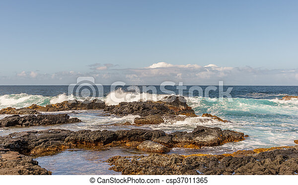 Big Island Hawaii surf - csp37011365