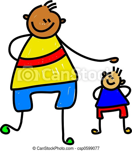 big kid little kid diverse friends one very tall one very small rh canstockphoto com bing clip art free bing clip art free images