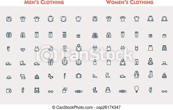 Big linear clothes set - csp26174347