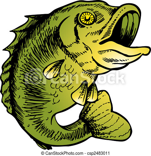big mouth bass vector illustration image scalable to any vector rh canstockphoto com Bass Artwork Largemouth Bass Logo