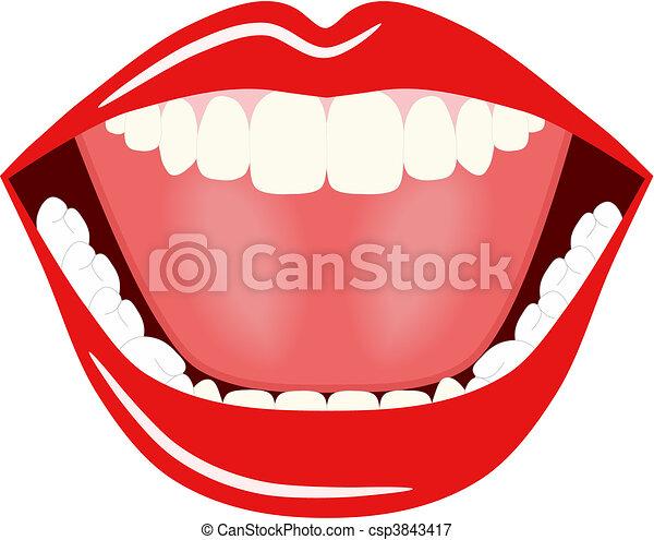 Big Mouth Vector - csp3843417