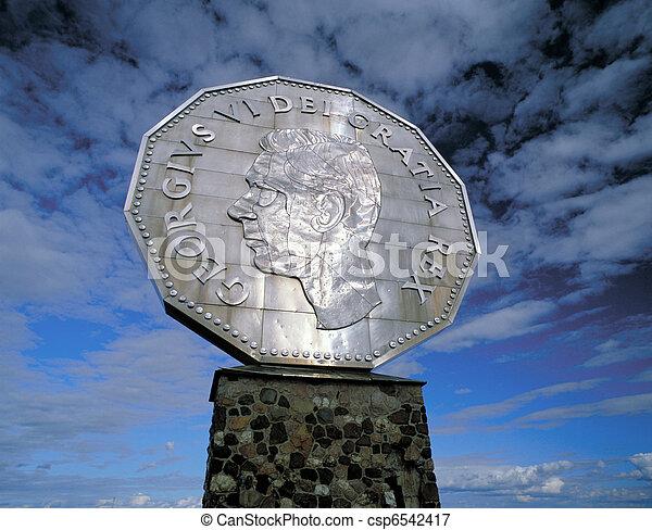 Monument Of Big Nickel In Sudbury Ontario Canada
