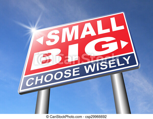 big or small size matters - csp29966692