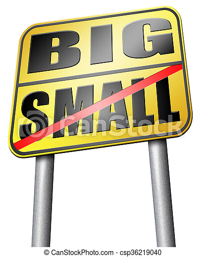 big or small size matters - csp36219040