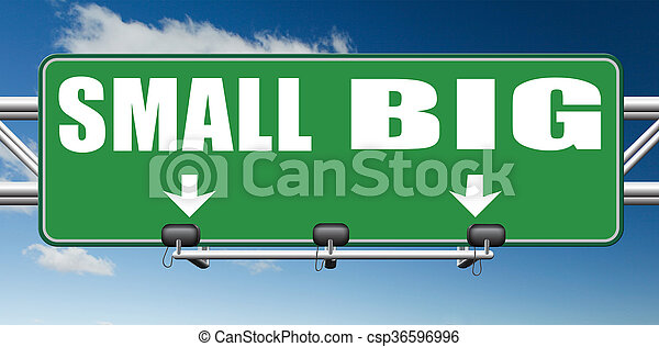 big or small size matters - csp36596996