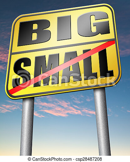 big or small size matters - csp28487208