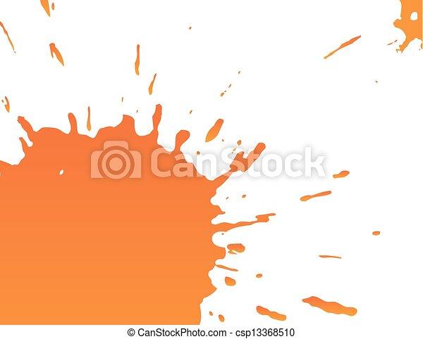 Big orange splatter - csp13368510