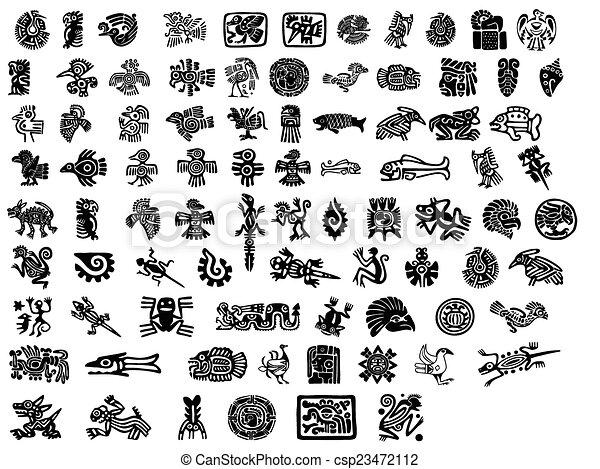 Mayan Inca Tattoo Symbols Images And Stock Photos 508 Mayan Inca