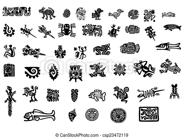 Big pack of mexican motifs - csp23472119