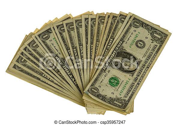 big pile of dollars - csp35957247