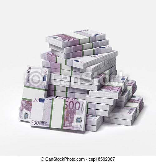 big pile of euros - csp18502067