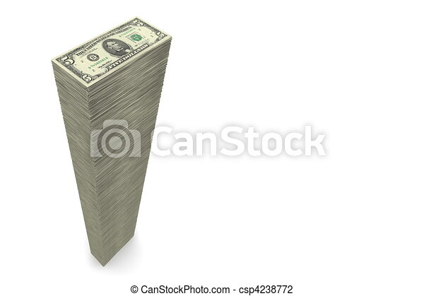 Big Pile of Money ? 5 Dollar Notes - Wide - csp4238772