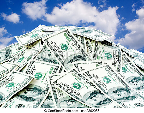 big pile of the money - csp2362055