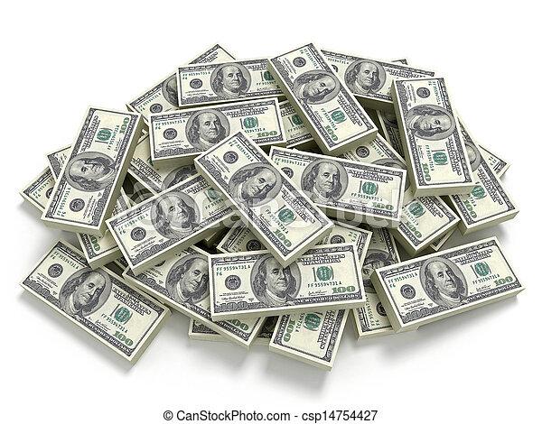 Big pile of the money - csp14754427