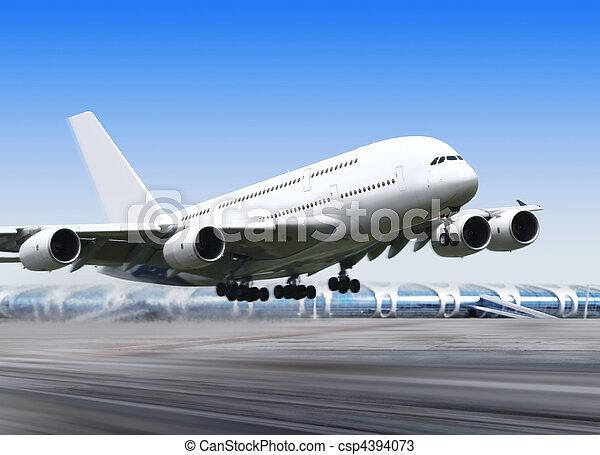 big plane in airport - csp4394073